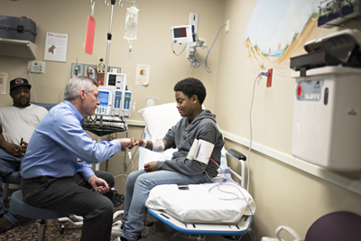 Nasir with Dr. Owen