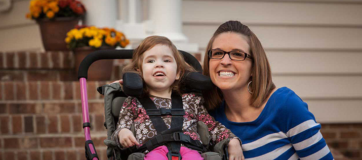 CHKD Patient Claire Winterburn with her Mom Rachel
