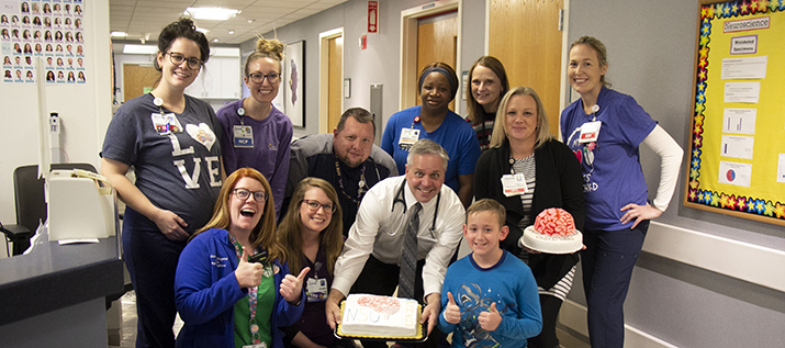 Neuroscience Unit Staff at CHKD Celebrating an Anniversary