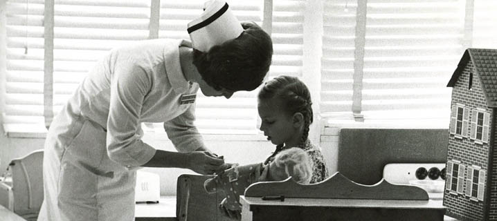 Nurse with Patient, circa 1960's