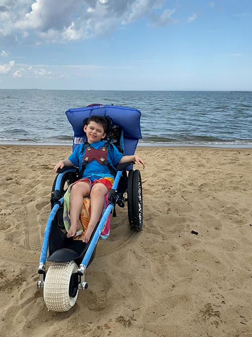 Christian Farley in Beach Chair
