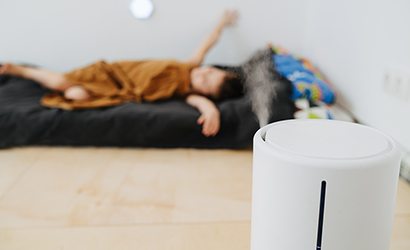 Air purifier in child's room.