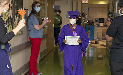 Patient Ashanti Chapman Celebrates High School Graduation at CHKD