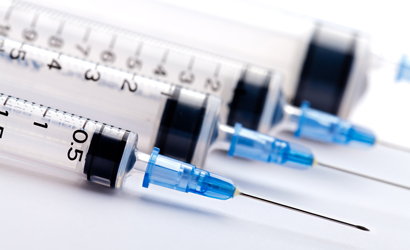 Close up of syringes