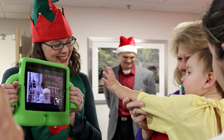 Ipad Santa with Kaitlynn Lewis and Jayson Miller